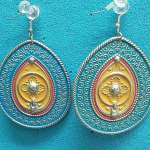 Jewelry - Colorful tin earrings